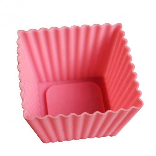Square Cake and Cupcake Silicone Baking Mold
