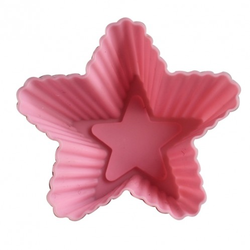 Star Cake and Cupcake Silicone Baking Mold