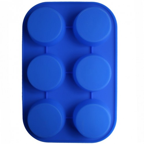 6 Circle Cake and Cupcake Silicone Baking Mold