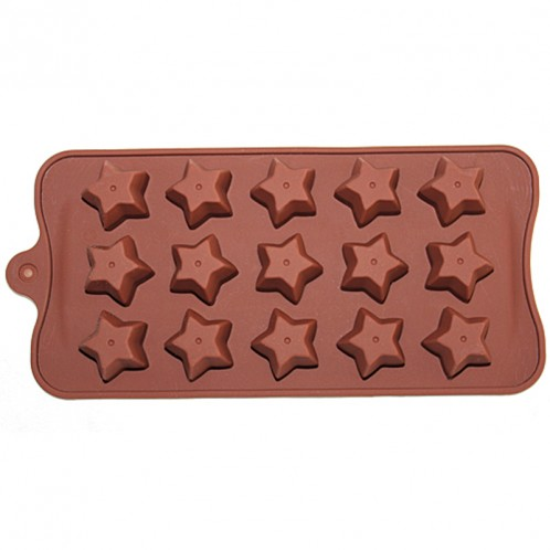 15 Star Chocolate Candy and Soap Mold