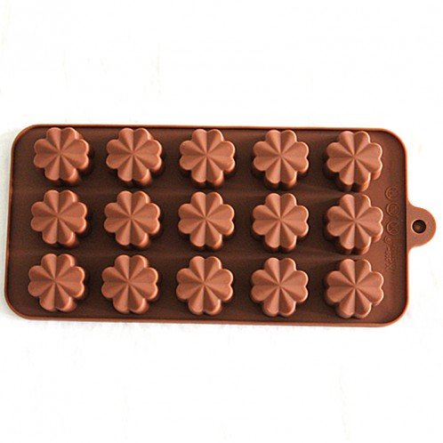15 Cavity Four Leaf Clover Chocolate Candy Silicone Mold