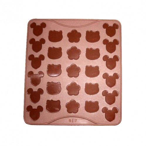 Variety Mouse Kitty and Silicone Macaron and Fondant Mold Mat