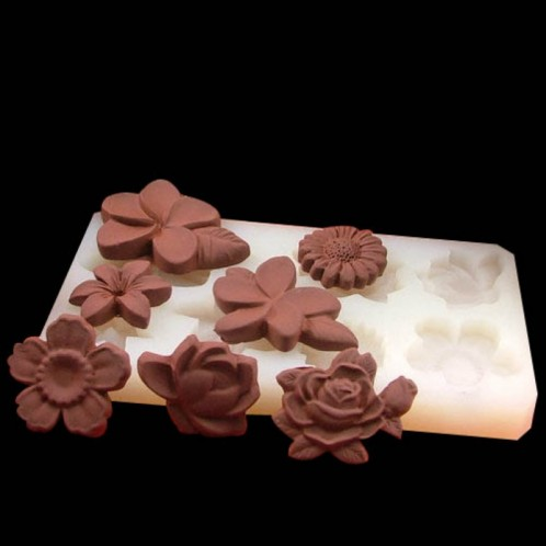 Beautiful Flowers Chocolate Candy Soap Silicone Mold