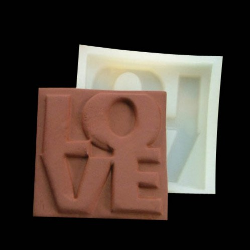 Love Square Chocolate Candy and Soap Mold