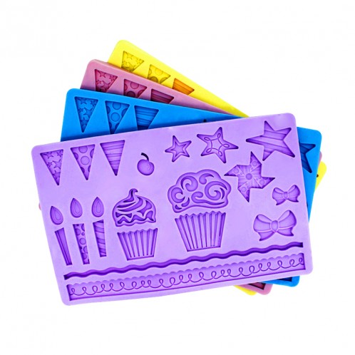 Kids Party Cupcake Chocolate Candy and Fondant Mold