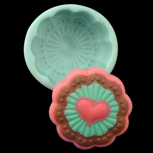 Lovely Heart Soap Bar Silicone Mold