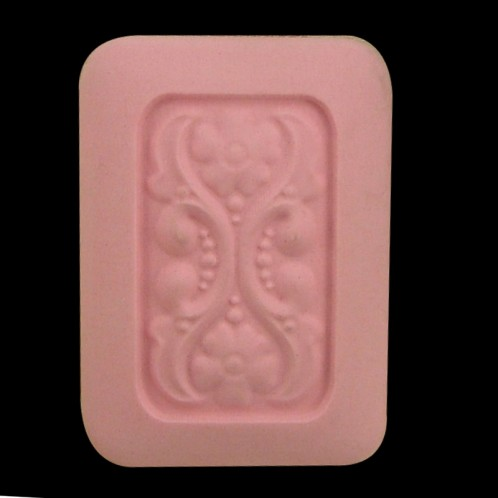 Delicate Flowers Rectangle Soap Bar Mold