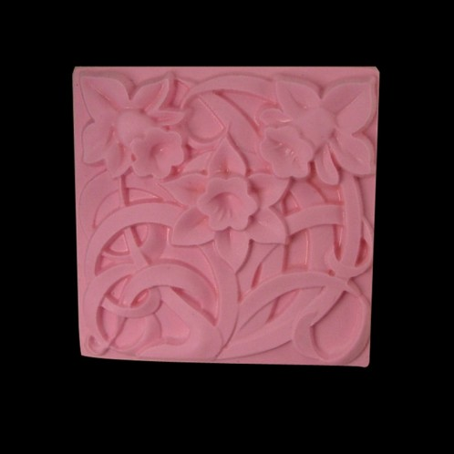 Pretty Flower Square Soap Bar Mold