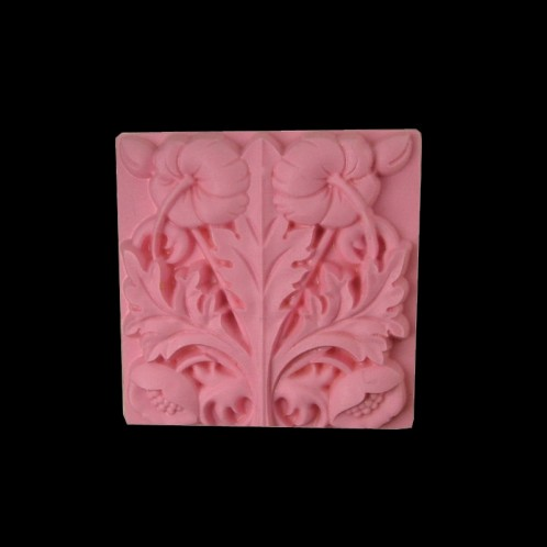 Extravagant Flowers Square Soap Bar Mold