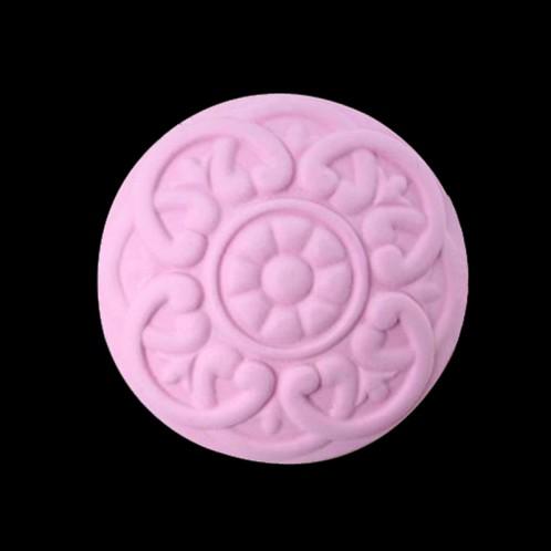 Circular Abstract Flower Design Soap Mold