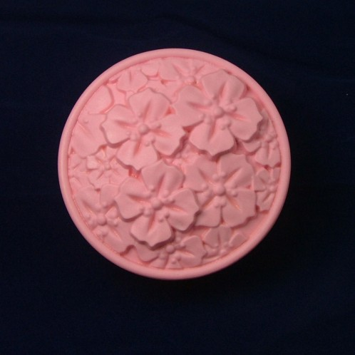 Circle Clutter of Flowers Soap Bar Mold