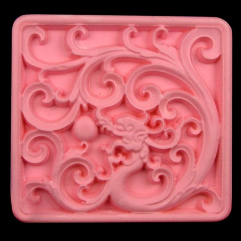 Fancy Vines 2.5 Inch Square Soap Bar Mold