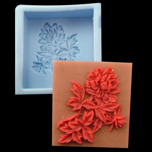 Square Pop Out Flowers Soap Bar Mold