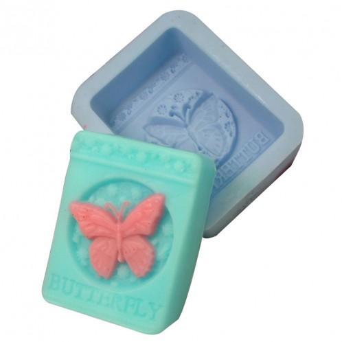 Rectangular Butterfly  Soap Bar Mold