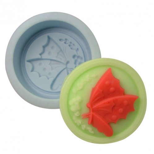Cirlce Butterfly Soap Mold