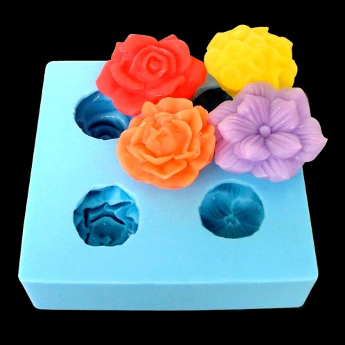 Mini Flower Chocolate Candy or Clay Mold