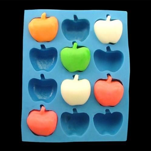 Mini 3D Apples Silicone Soap Mold