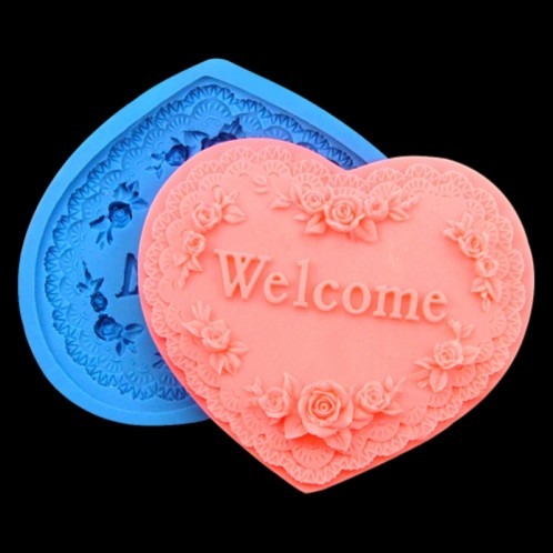 Welcomed Heart Silicone Soap Mold
