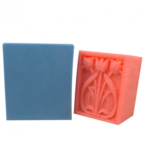 Thick Rectangular Flower Soap Bar Mold