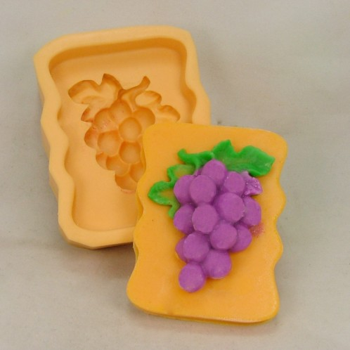 Wavy Sided Grapes Soap Mold