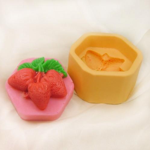 Strawberry Pentagon Soap Mold