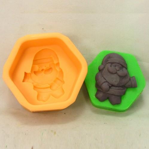 Pentagon Christmas Santa Silicone Soap Mold