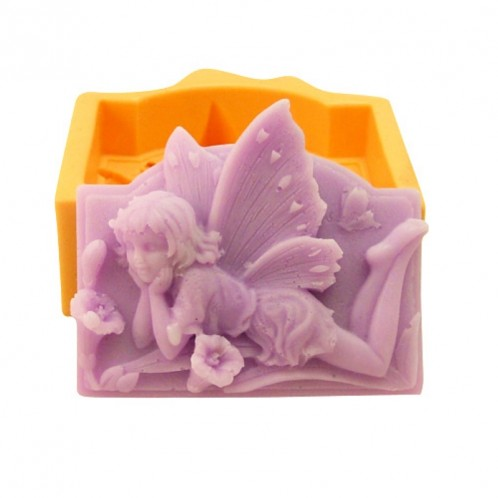 Resting Fairy Smelling a Flower Soap Mold