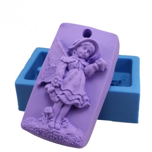 Young Fairy Pose Silicone Soap Bar Mold