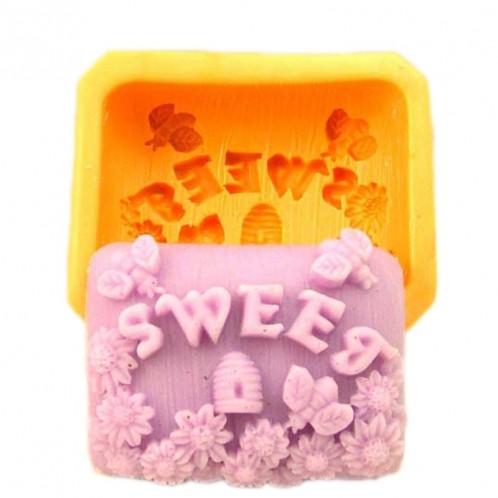 Sweet Honey Bee Silicone Soap Bar Mold