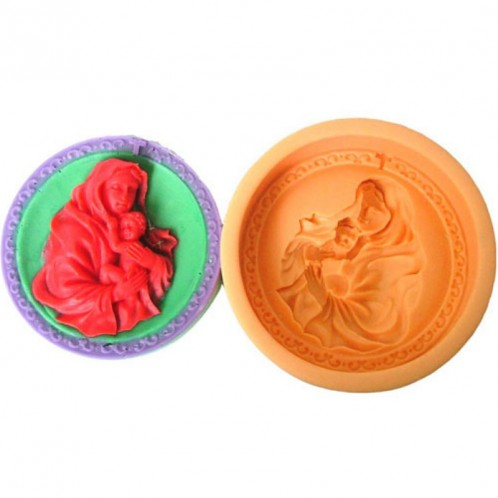 Religious Mary and Baby Silicone Soap Mold