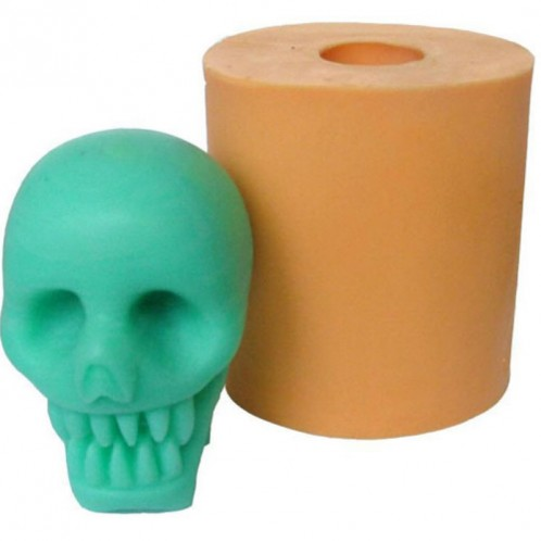 3D Scary Skull Silicone Soap and Candle Mold