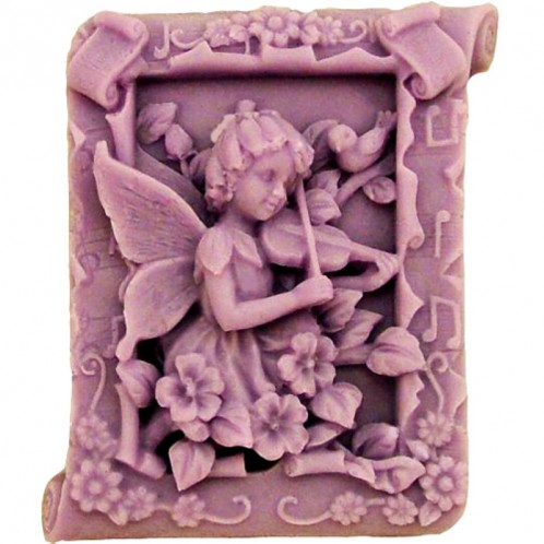Fairy Playing Violin Silicone Soap Bar Mold