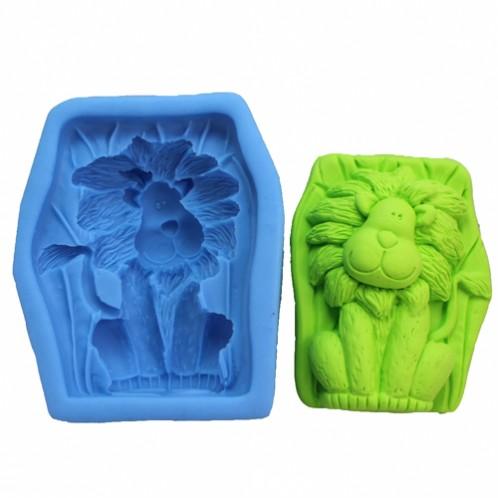 Friendly lion soap mold