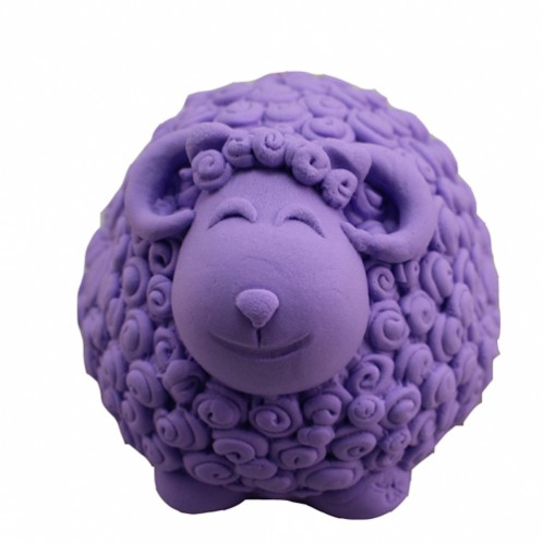 Small, rounded 3D sheep soap mold