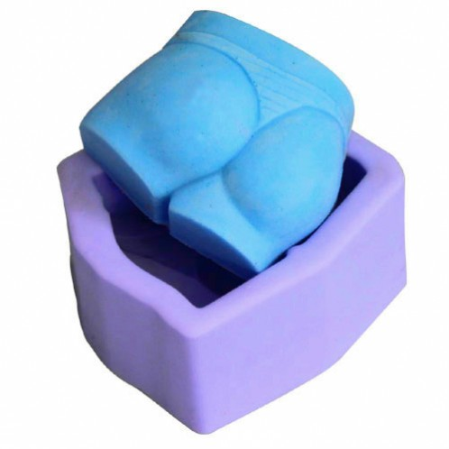3D poppin' booty and striped thong soap mold