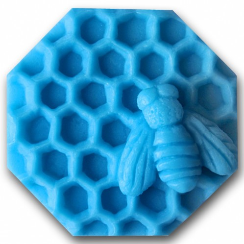 Busy bee 3D honeycomb hexagonal soap mold