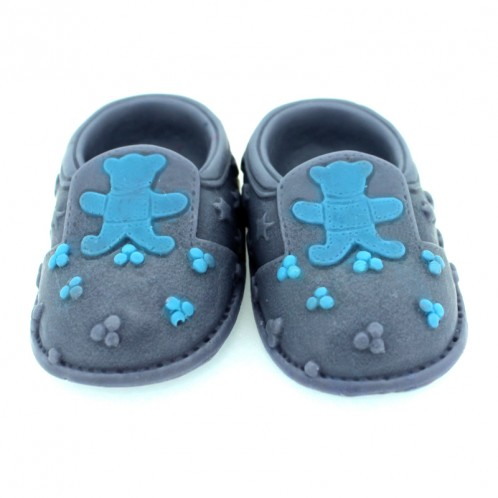 3D Baby shoes soap mold with teddy bear detail