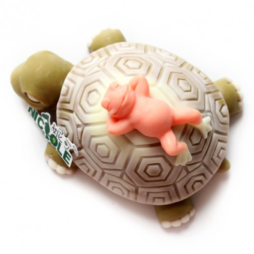Layered pond animals relaxing 3D soap mold