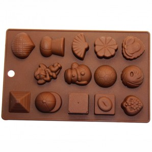 Random Special Chocolate Candy Fondant and Clay Mold