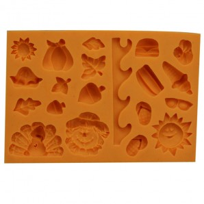 Fall Thanksgiving Holiday and Beach Fondant and Chocolate Mold