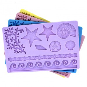 Sea Life Chocolate Candy and Fondant Decorating Mold