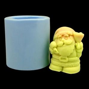Mini 3D Santa Silicone Chocolate and Soap Mold