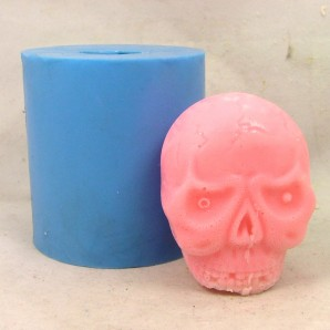 3D Skull Soap or Candle Mold