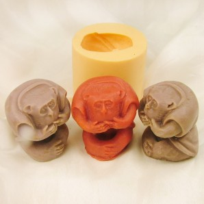 3D Speak No Evil Silicone Soap or Candle Mold