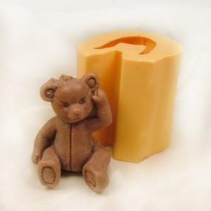 3D Sitting Teddy Bear Soap Mold
